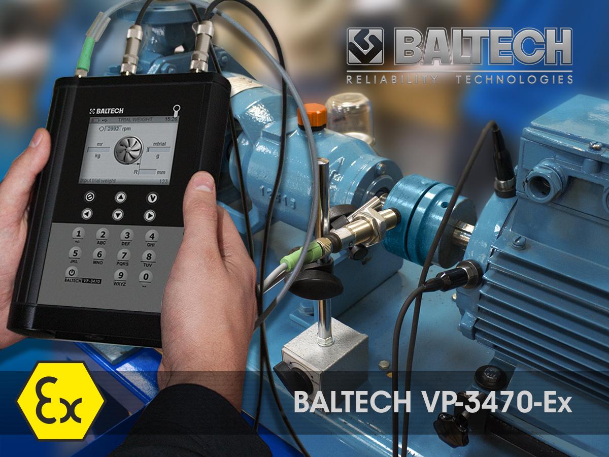 Диагностика насосов, сервис и ремонт, виброанализаторы BALTECH VP-3470-Ех
